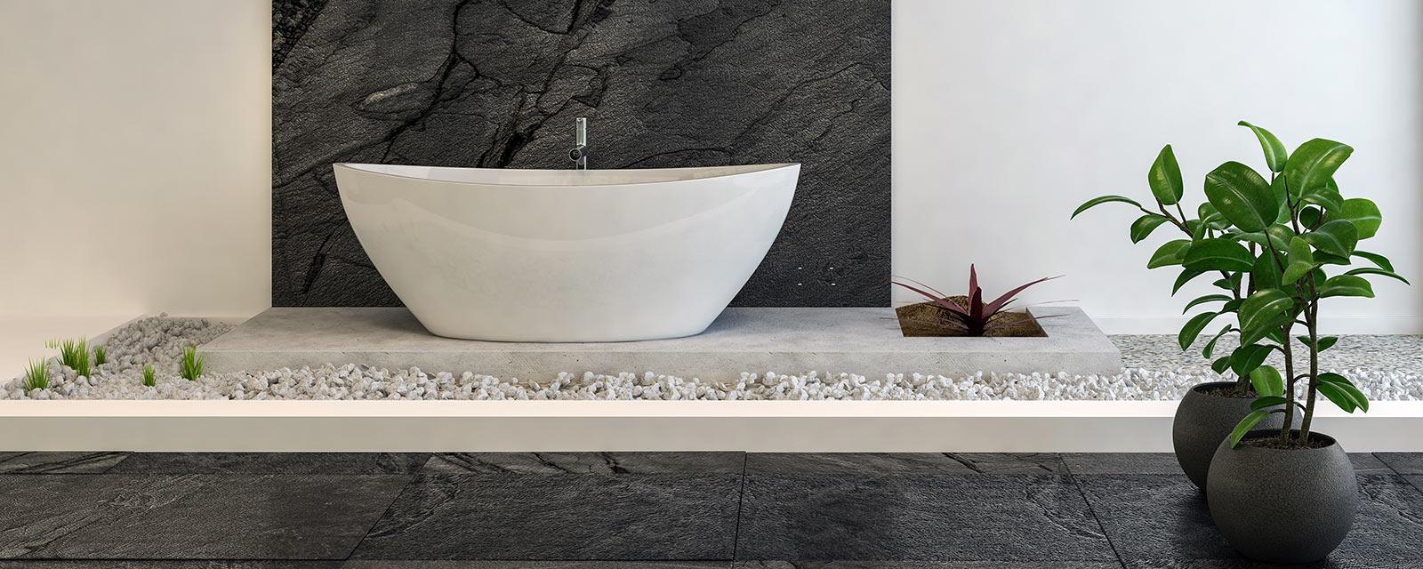 Salle De Bain Revetement des galets dans la salle de bain | guide artisan